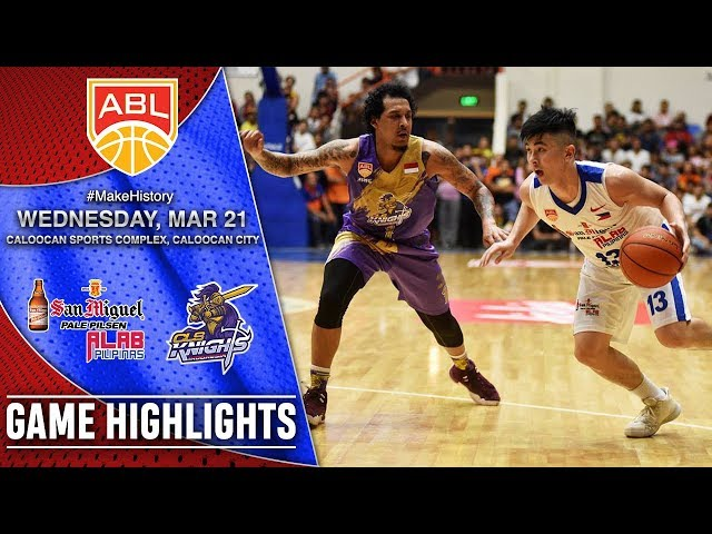 San Miguel Alab Pilipinas vs CLS Knights Indonesia   HIGHLIGHTS   2017 2018 ASEAN Basketball League