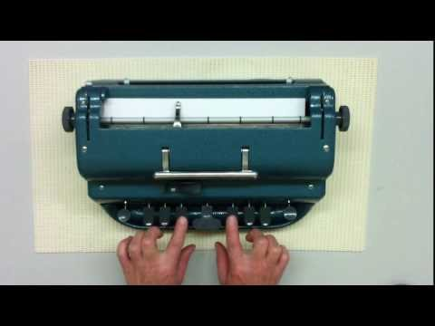 Introduction to the Perkins Brailler - Statewide Vision Resource Centre