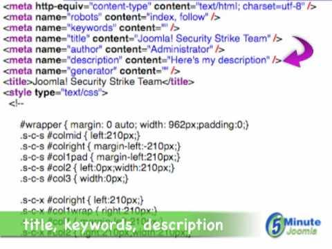 Creating Good Meta Tags In Articles In Joomla