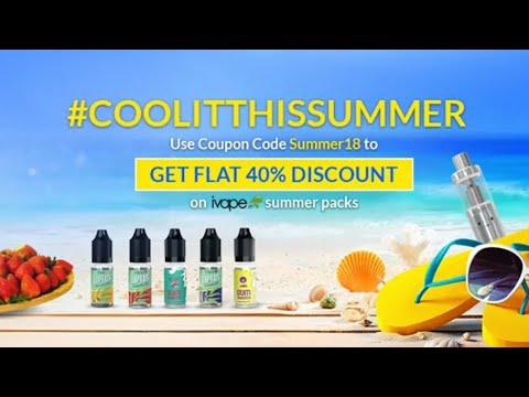 IVAPE IN NEW LAUNCHED FLAVOUR PACKAGE / 40%OFF COUPON CODE /  #COOLITTHISSUMMER