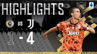 Spezia 1 4 Juventus Ronaldo Returns with a Double Serie A Highlights