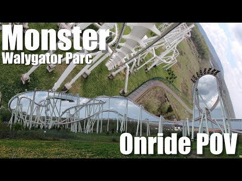 [4K] Monster [Walygator Parc] Awesome B&M Inverted Coaster | Onride POV | GoPro Hero7