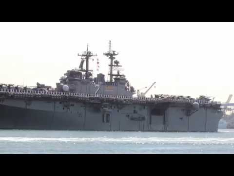 USS Essex (LHD 2) Departs San Diego for a Deployment