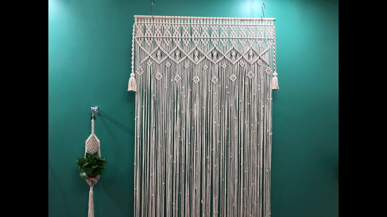 macrame curtain 3 how to make a macrame curtain step by step easy even if you are a beginner