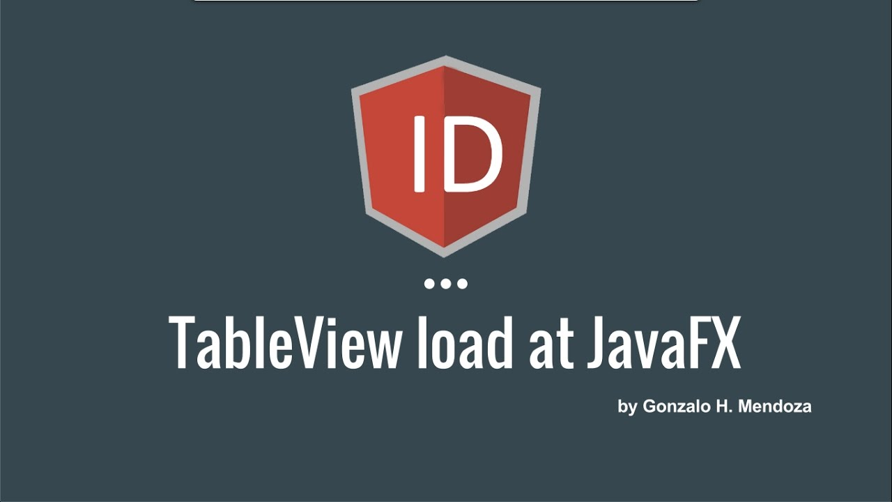 Javafx tableview load example youtube baditri Images