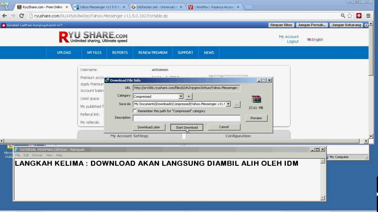 Ryushare download manager