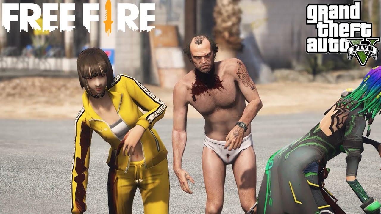 GTA V x Free Fire หนังสั้น ตอน ฝ่าโลกซอมบี้