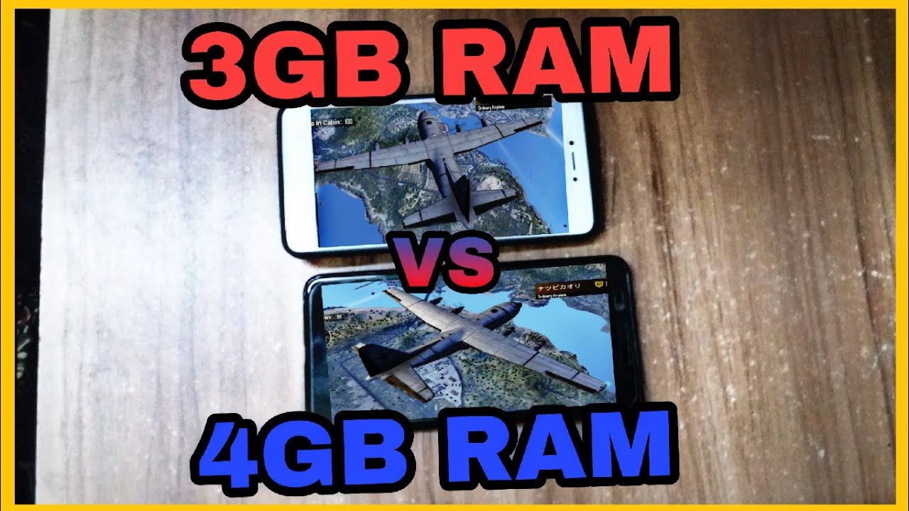 Pubg Mobile On 4GB RAM Vs 3GB RAM Both On HD Graphics