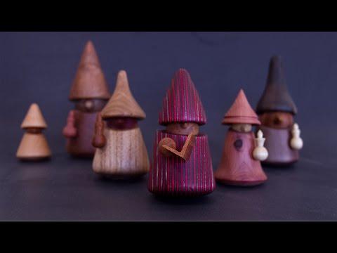 Woodturning Gnome Christmas Carolers