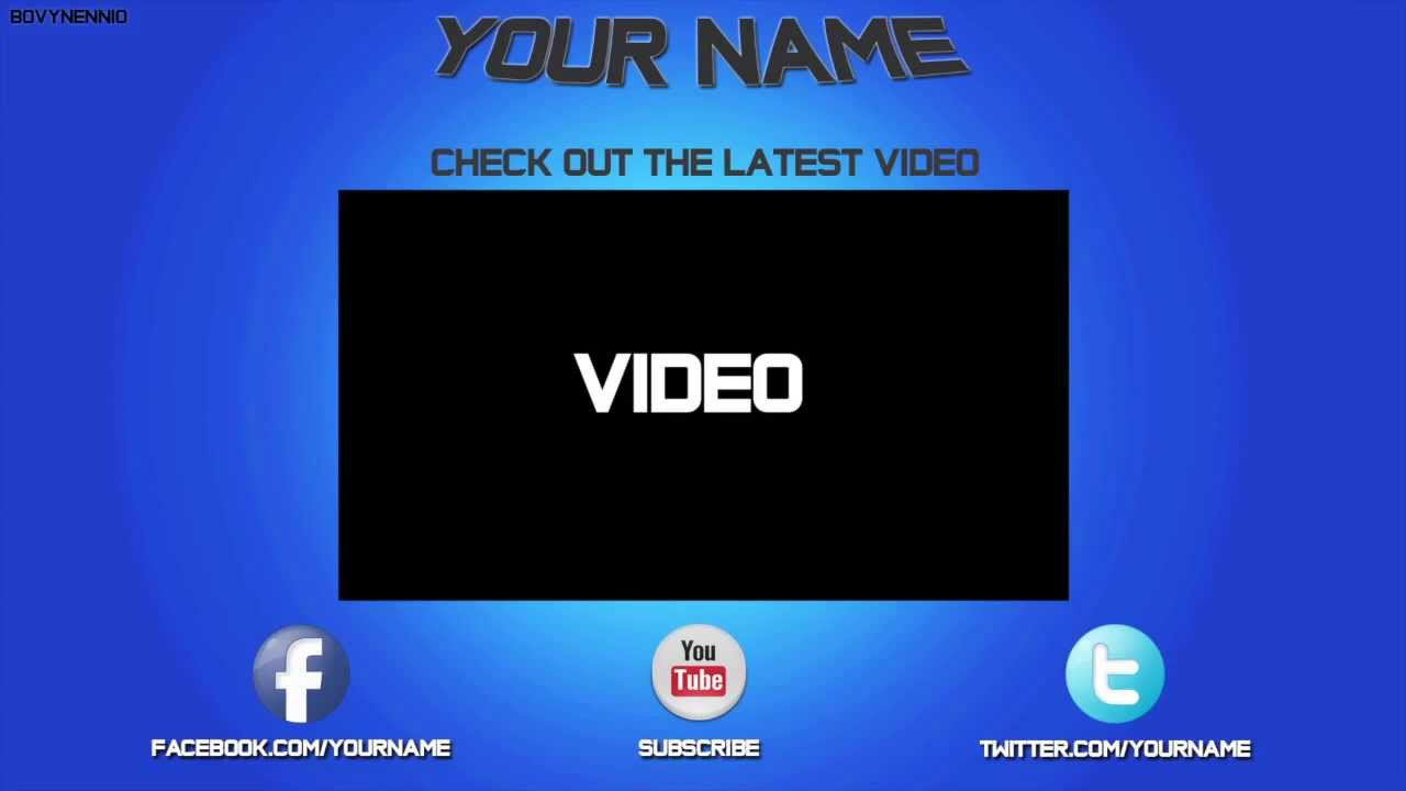 Socialoutro free outro templates pack psd files youtube for Blank outro template