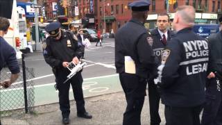 NYPD CAPTAIN, SERGEANT, LEGAL OFFICER & TARU OFFICER CONFISCATE DRONE FROM MAN DURING PROTEST.