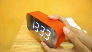 Speaker Bluetooth Elite Robot S65 Wireless LED Clock Alrm Mirror