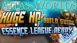 path of exile huge hp marauder build guide essence league ready atlas of worlds 2 4