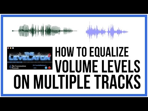 How To Equalize Volume Levels On Multiple Audio Tracks - FREE And EASY