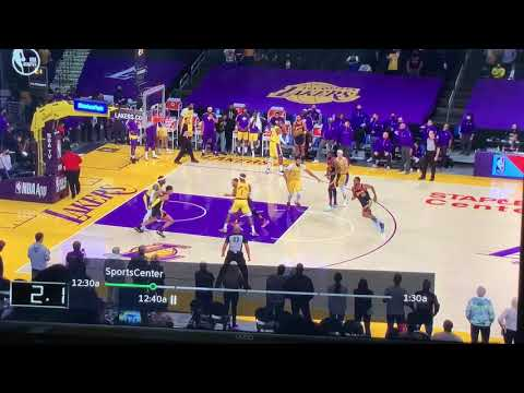 Warriors Lose To Lakers 103 - 101, Anthony Davis Foul On Steph Curry Not Called As Time Expired - Vlog