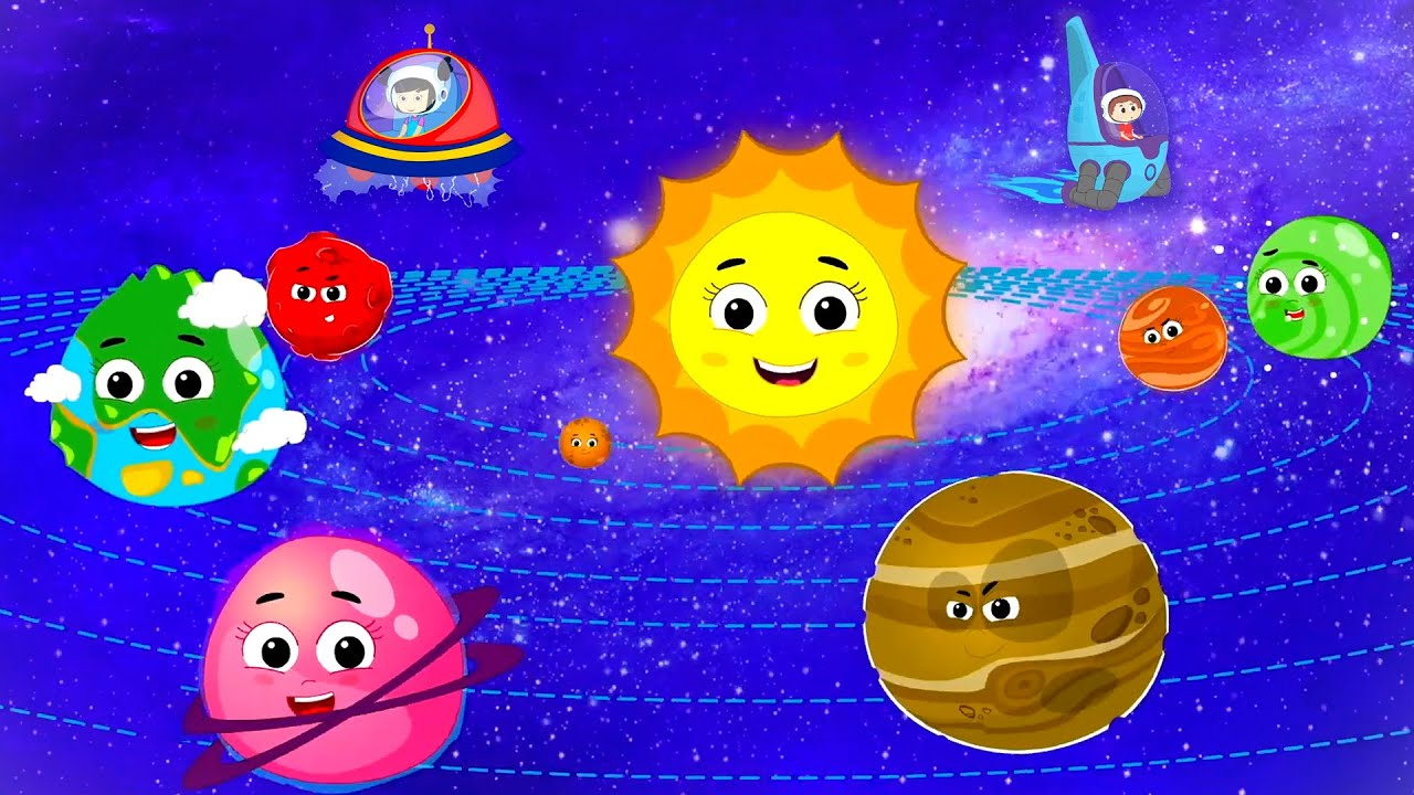 The Planets Song | Nursery Rhymes for Children | Cartoon Videos for Kids | Preschool Learning Videos