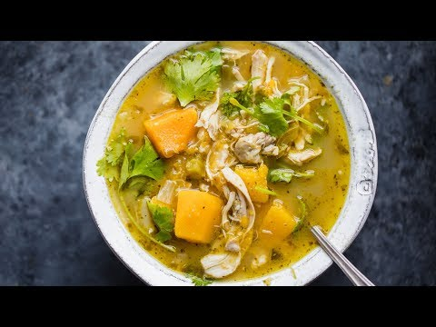 Butternut Squash Green Chile Chicken Soup