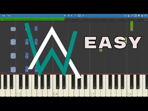 How to play Faded - EASY Piano Tutorial - Alan Walker