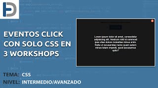 Eventos click con solo CSS