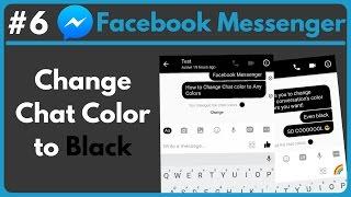 Facebook chat color black