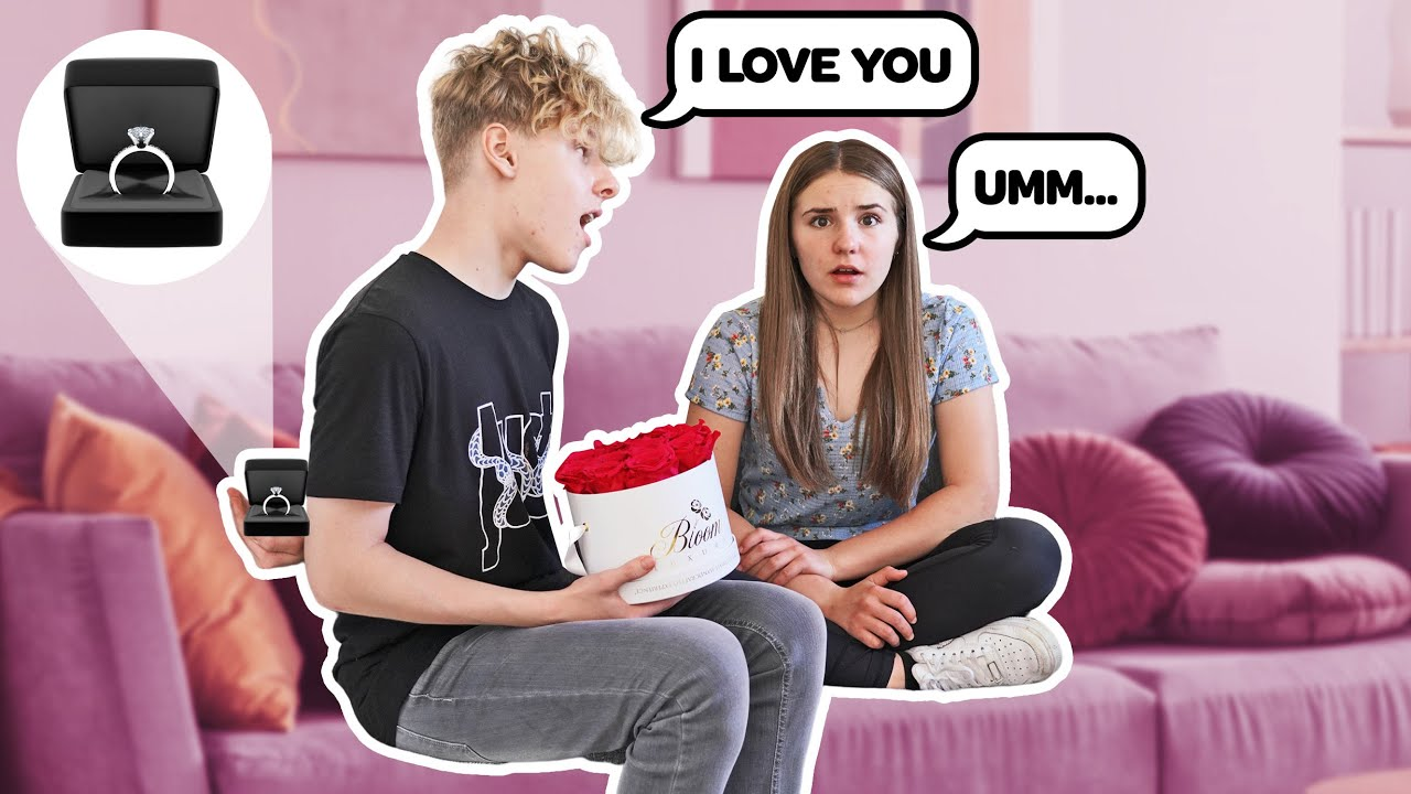 Telling My Girlfriend I LOVE HER For The First Time On Camera **CUTE REACTION** 💍❤️  Lev Cameron