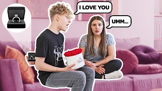 Telling My Girlfriend I LOVE HER For The First Time On Camera **CUTE REACTION** 💍❤️| Lev Cameron