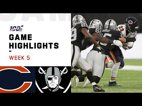 Bears vs. Raiders Week 5 Highlights | NFL 2019