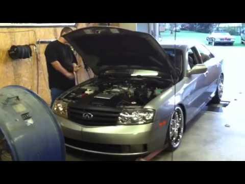 2003 Nissan Frontier >> 2003 m45 y34 dyno - YouTube