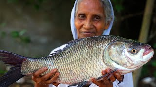 Katol Macher Recipe | Grandma's Special Katla Fish Curry purely Village Style Cooking | villfood