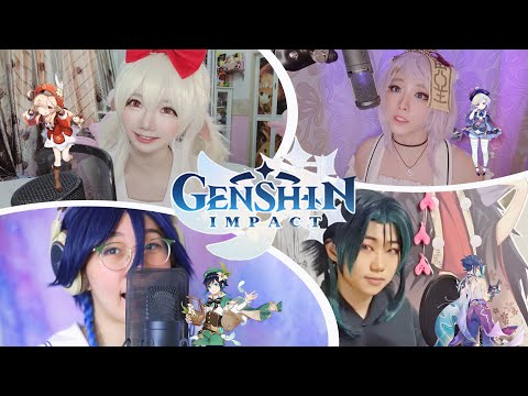 【Genshin Fansong Cover】Let the Wind Tell You Japanese Version by AnnChan/ Sally/ Miki/ Hani