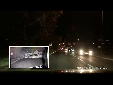 Audi A8L Matrix LED Headlights and Pedestrian Detection in the real world