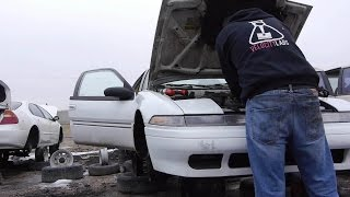 Pulling Junkyard Car Parts Tutorial DIY