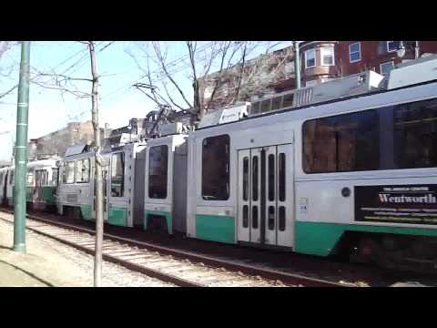 The Boston Lightrail Green Line (including at night)