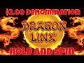 🐉 Dragon Link Slot Machine 🐉  $2.00 Denomination Hold And Spin Bonus Casino Pokies