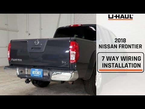 2018 Nissan Frontier 7 Way Wiring Harness Installation - YouTube on u-haul wiring harness diagram, u-haul wiring adapter, u-haul trailer wiring kit, toyota wiring harness, camper wiring harness, diesel wiring harness, u-haul trailer light harness,