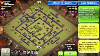 """Clash of Clans -- Base Envy -- TH8 -- Best Base from war w/ """"clan of bros"""" on 10/17"""