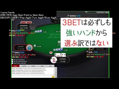 【25NL】プリフロップの3BETレンジ構築を考える【ポーカースターズ】 #175