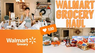 WALMART GROCERY HAUL | QUICK & EASY MEAL IDEAS | WALMART GROCERY PICKUP