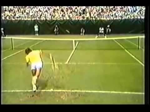 Vijay Amritraj India's greatest tennis player thrashing Bjorn borg