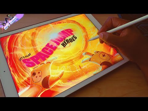 LETS PLAY SPACE JUMP HEROES PART 2 DRAWING WITH PROCREATE 4 ON MY IPAD PRO
