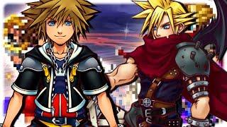 Kingdom Hearts FFBE Collaboration Summons! Sora and KH Cloud! Final Fantasy Brave Exvius
