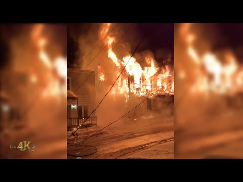 Nicolet: Powerful destructive blaze ravages entire apartment building 2-22-2021