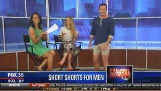 New style for men: short shorts