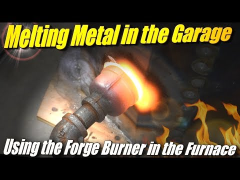 Using the Forge Propane Burner with the Fire Brick Foundry Furnace to Melt Aluminum Indoors