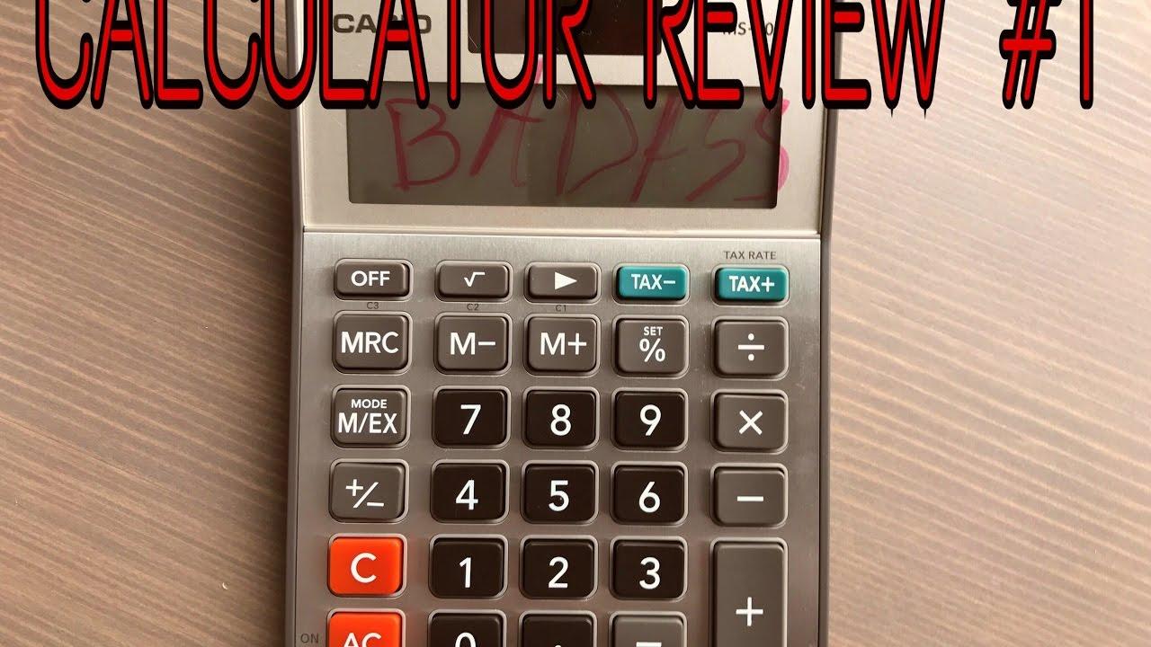 Calculator Review 1 Casio Ms 80b
