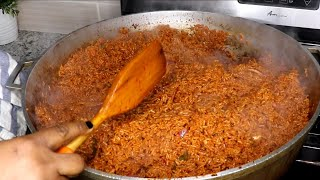 How to cook jollof rice for a get together.| Nigerian Party Jollof Rice |Cook With Me.