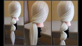 Легкая прическа своими руками за 5 минут.Моя новая идея🌸👍Easy hairstyle for 5 minutes. My new idea