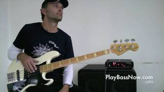 L294 bluesy jazzy bass lick in A
