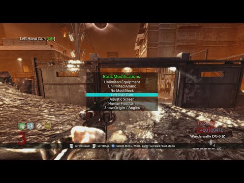 Best Hacked Zombies Lobby EVER! (World At War Nazi Zombies Der Riese Modded)