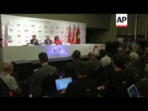 Madrid delegation news conference as three cities vie to host 2020 Olympics
